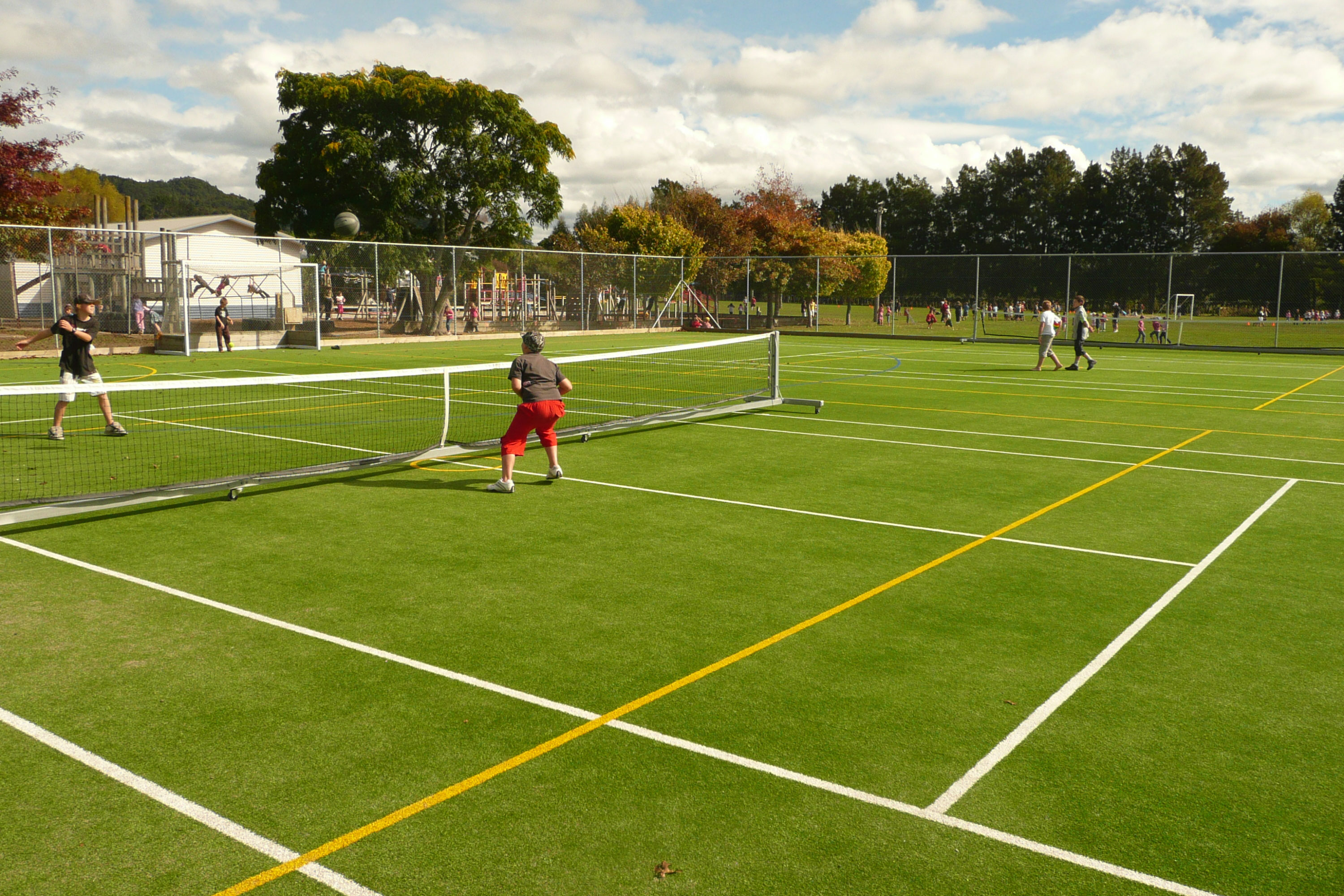 School multi play courts, tennis