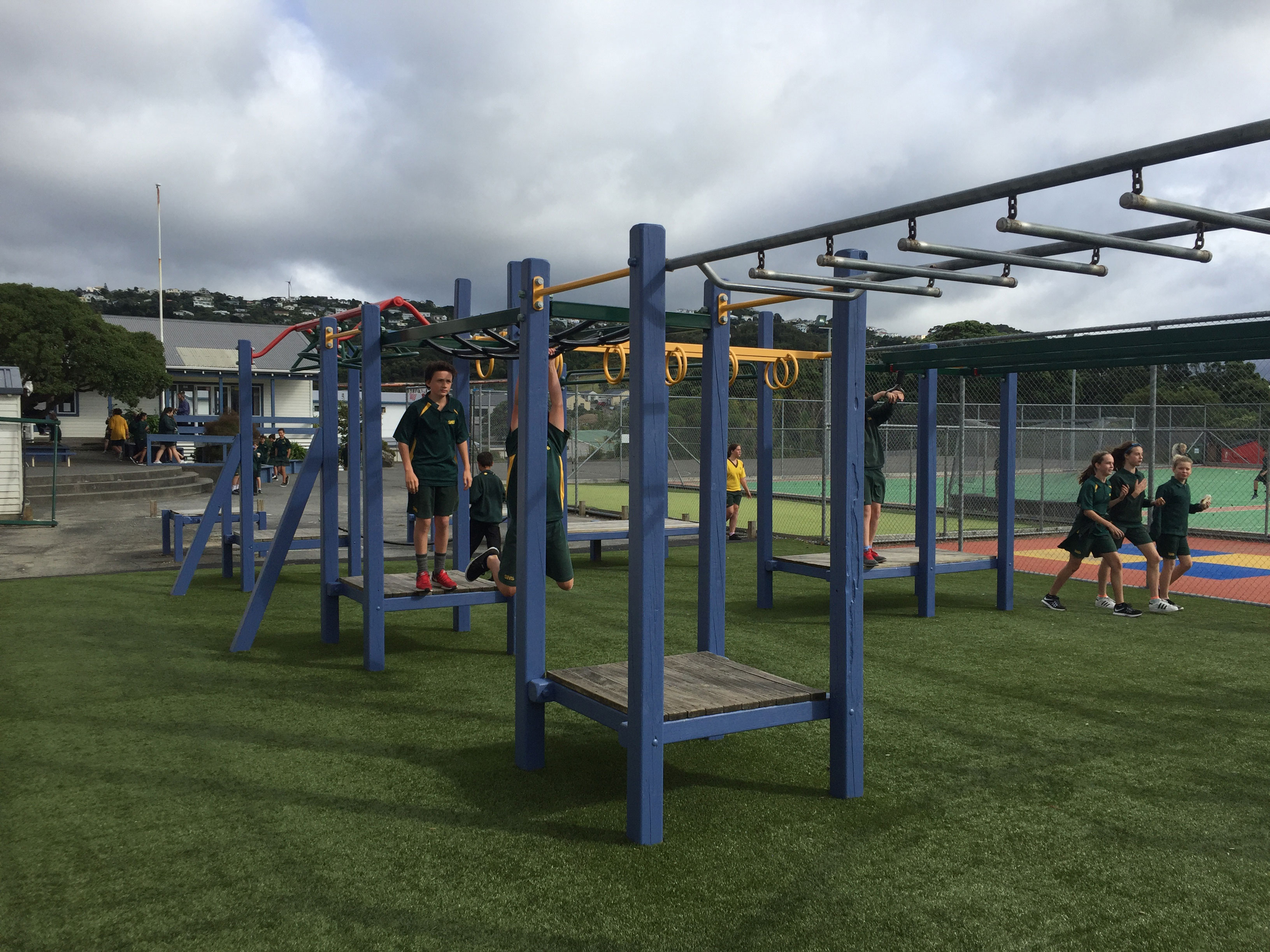 school playground, fall protection, play equipment